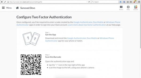 2fA on Slack using Google Authenticator