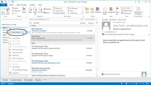 Create New Folder dialog