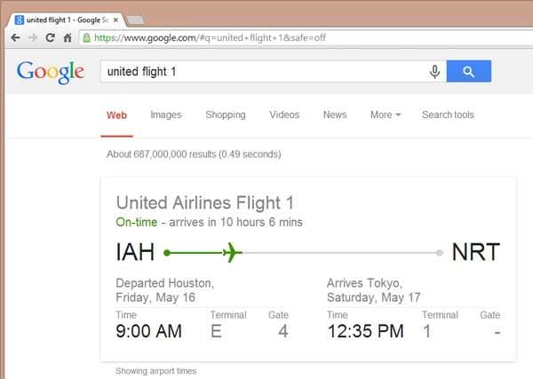 airline flight status display
