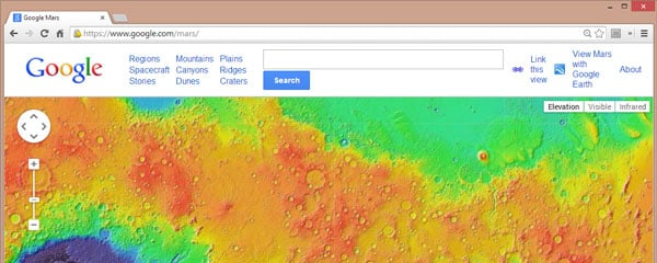 interactive map of mars