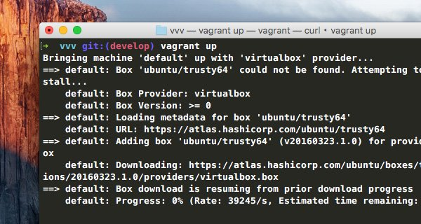 Terminal is running vagrant up command