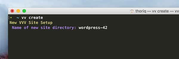 The directory name prompt in OS X Terminal