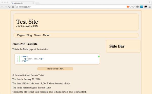 rubyPress Main Page
