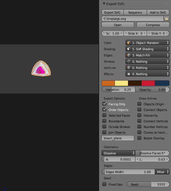 SVG geometry export