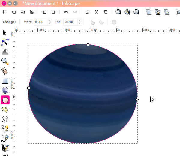 Fitting an ellipse to the limb of Saturn
