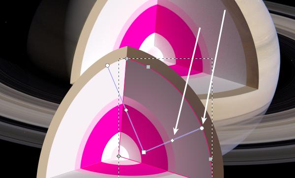 Sampling radial gradient colors
