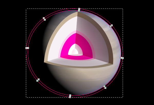Adding a black collar around Saturn