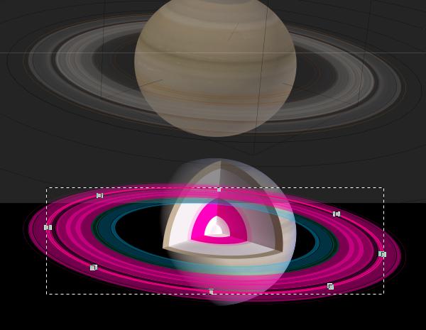 Rings as filled regions