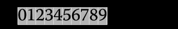 Monospace lining numerals