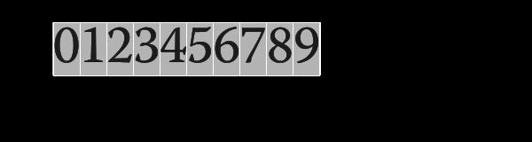 Monospace vs proportional numerals