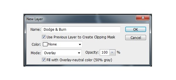 dodge and burn new layer