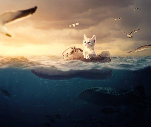 Surreal Underwater Photo Manipulation Photoshop Tutorial