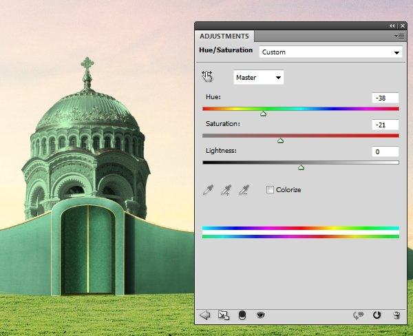 building 1 hue saturation 2