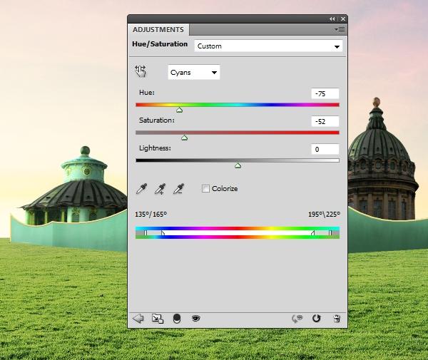 building 3 hue saturation