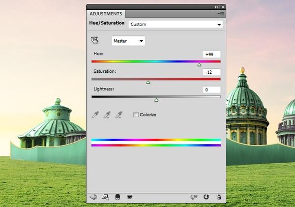 building 4 hue saturation