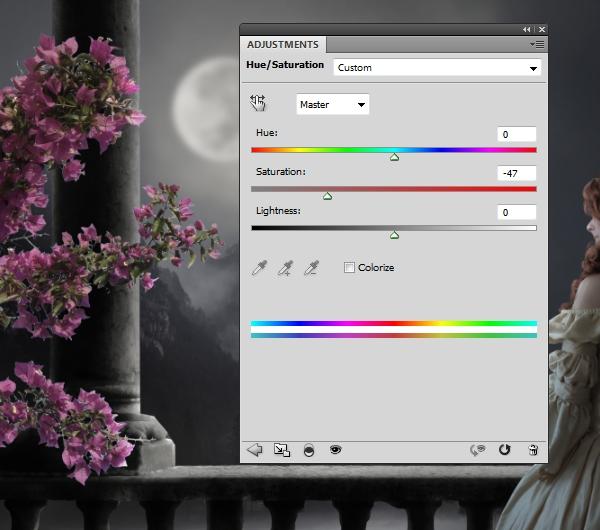 flowers 3 hue saturation