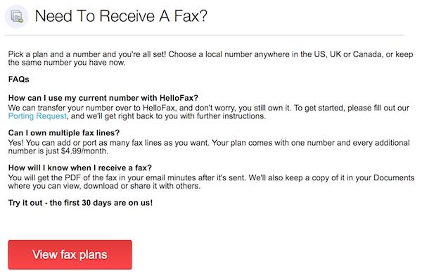Upgrade HelloFax