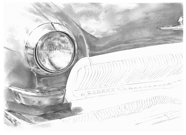 Continue rendering the bonnet of the car as before do things a section at a time