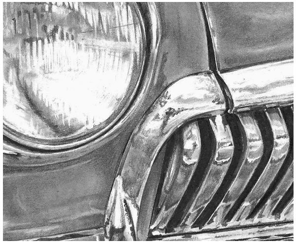 Working on small details such as the figure in the grille can be tedious but it IS worth the effort
