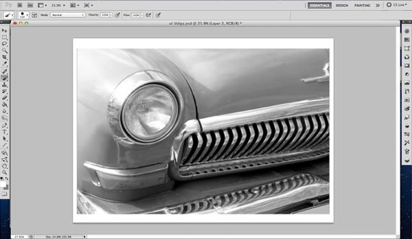 How your photo should be setup in Photoshop remember a black and white photo might be best to use