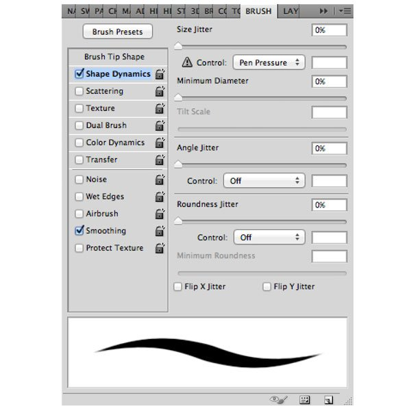 How I find it best to set up an inking brush