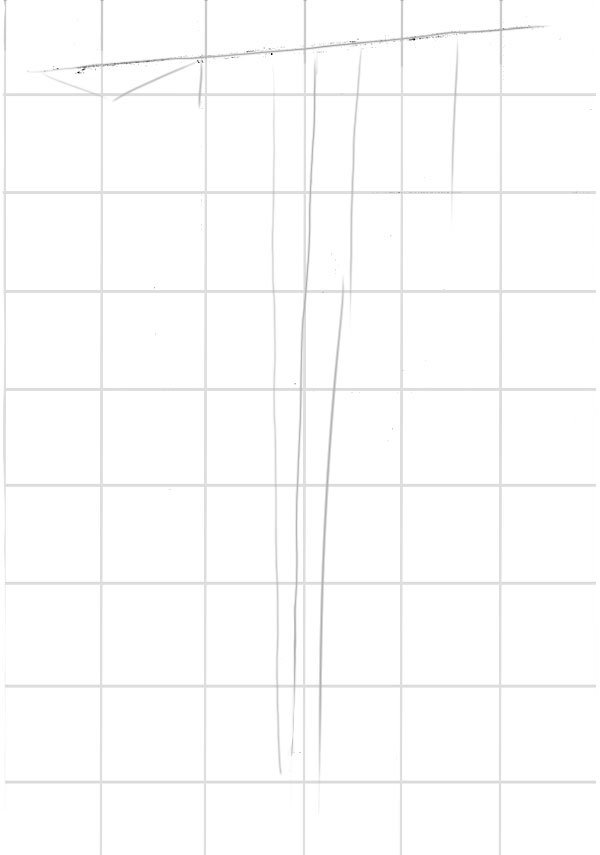 Continue using simple lines to build up your drawing Keep things easy at this point