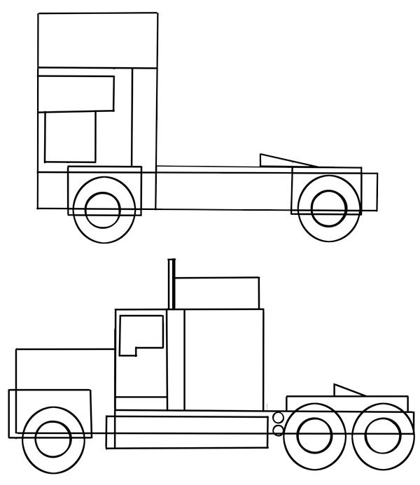 See the difference between European and American trucks