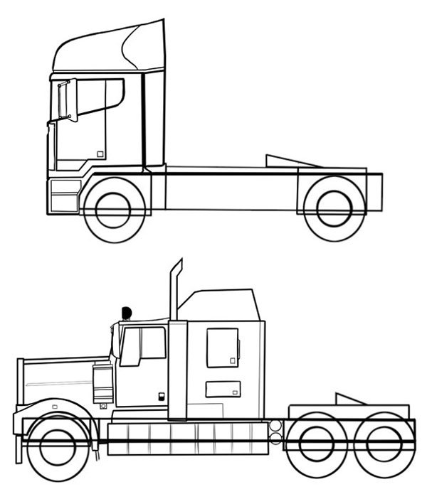 Comparing our two trucks the details are coming through
