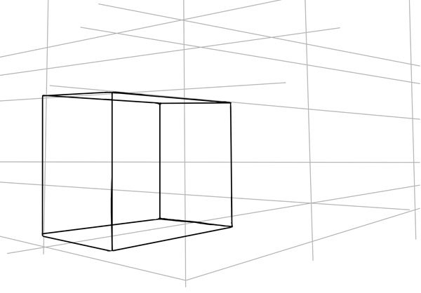 A simple cube starts our construction for the truck