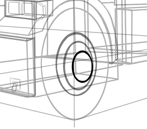 Add more ellipses for the inner rim and hub cap