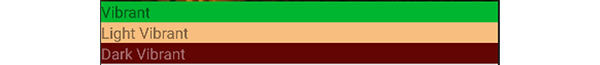 Example of profile Swatch colors