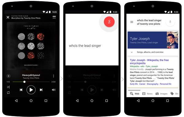 Contextually Aware Google Now in App