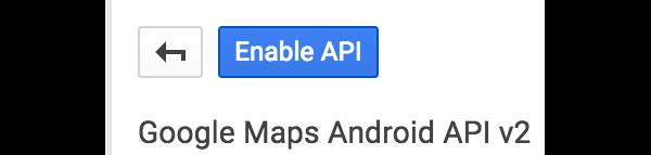 Enable API button