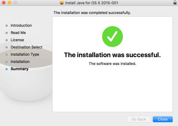 Java Installer Screen
