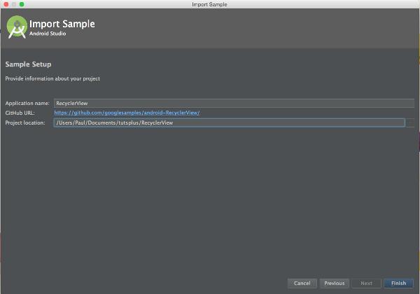 Android Studio Sample Setup