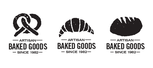 Roughened and ready logo designs