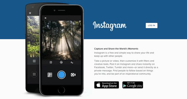 Instagrams website