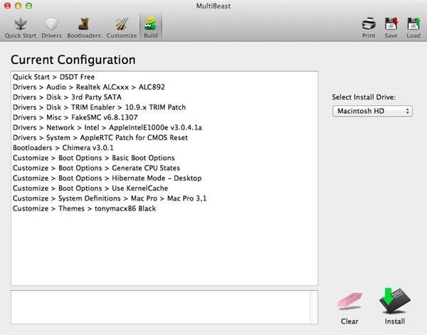 multibeast configuration