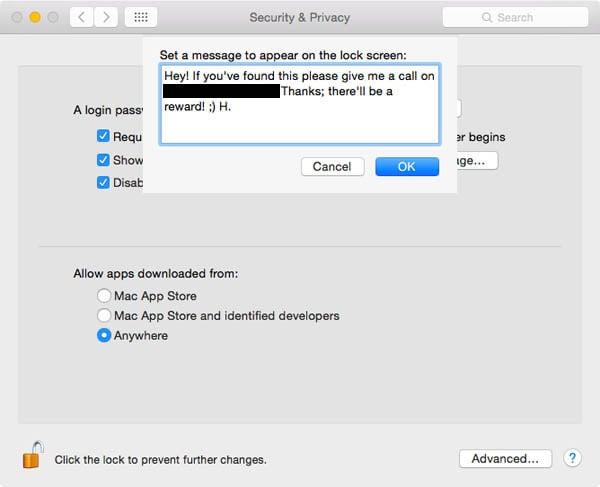 lost mac message