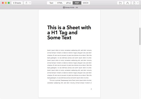 exported PDF