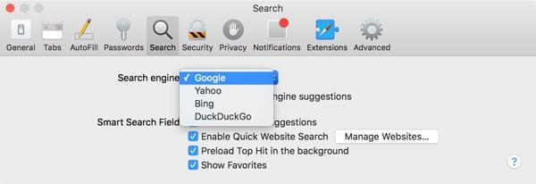 Safari defaults