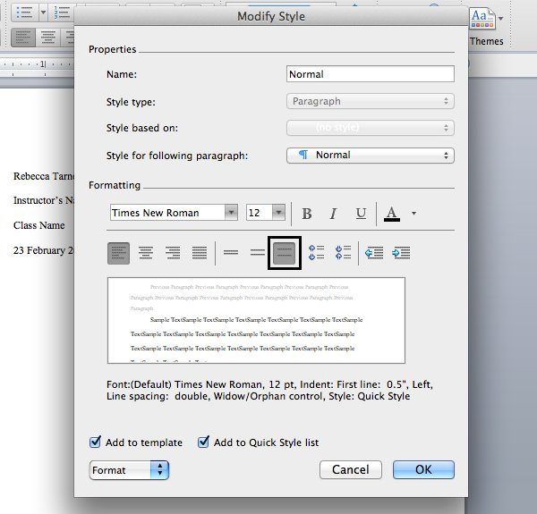 Change font and spacing in Microsoft Word