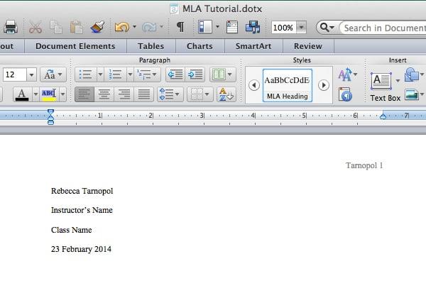 Add heading info in Microsoft Word