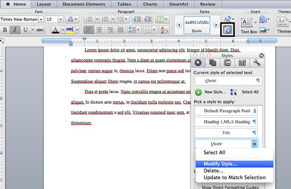 Modify quote style in Microsoft Word