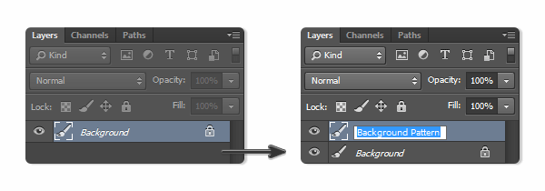 Rename the new layer as Background Pattern