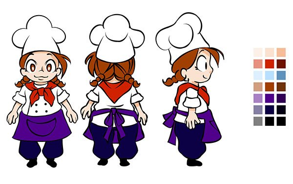 Character color scheme