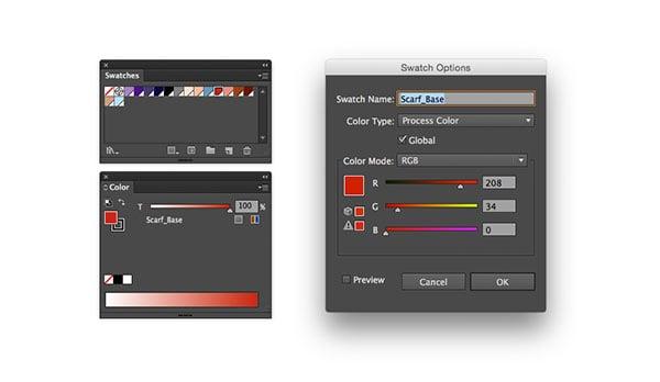 Global color panels