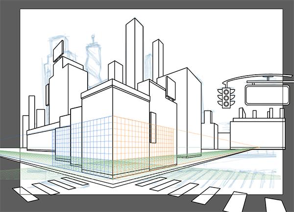 Rough cityscape