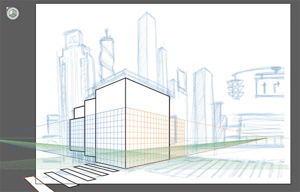 Drawing the pedestrian walk