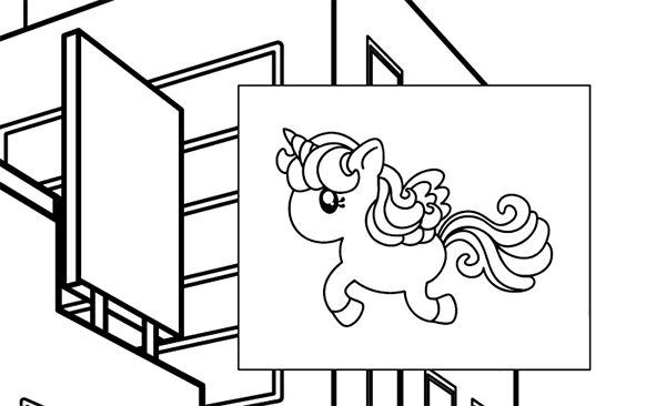 Unicorn design for big sign